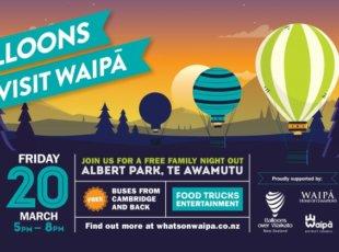 Balloons Visit Waipa – CANCELLED