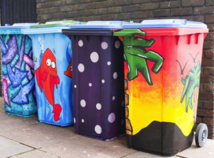 Wheelie Bin Art southampton city council