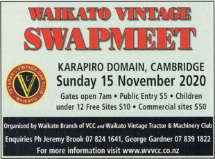 Vintage Tractor Club Swap meet 2020