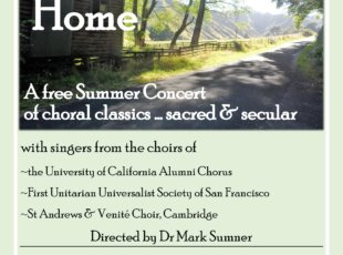 The Road Home – A free Summer Concert of choral classics & secular