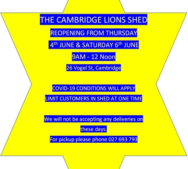 The Cambridge Lions Shed Reopening