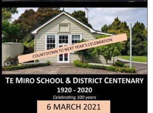 Te Miro School & District Centenary