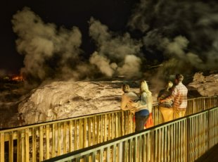 Geyser By Night