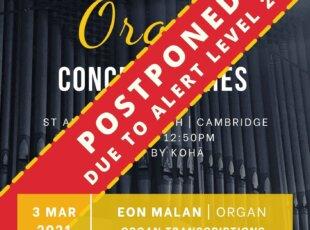 POSTPONED Lunchtime Organ Concert