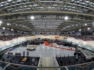 Interior panoramic view of the Avantidrome.  Avantidrome Opening, Cambridge, New Zealand, Saturday 12 April 2014.  Photo:  Bruce Lim / www.photosport.co.nz
