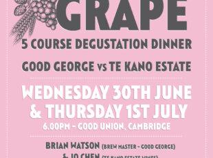 Grain vs Grape Degustation Dinner