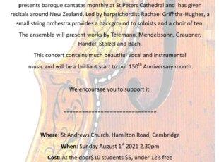 St Andrew's Concert Series – Vox Baroque