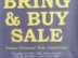 Bring and Buy Sale
