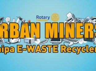 Rotary Cambridge Urban Miners E-waste Recycling